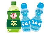 Cartoon Ramune Drinks
