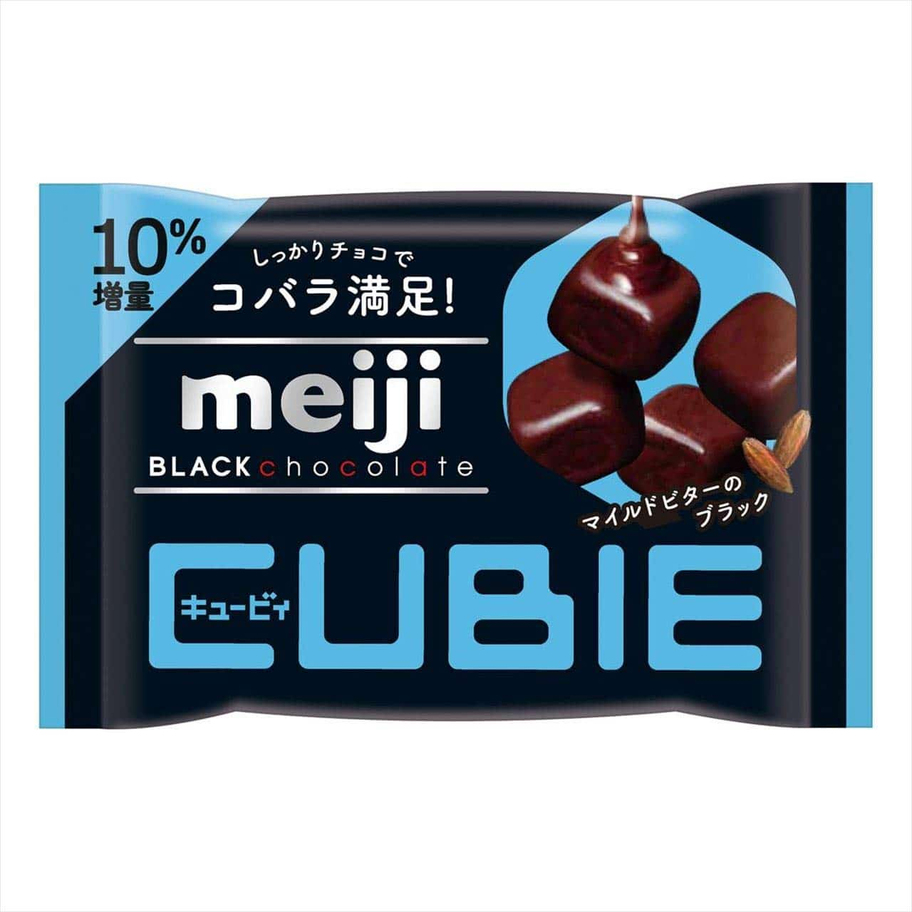 Meiji Cubie Black Chocolate