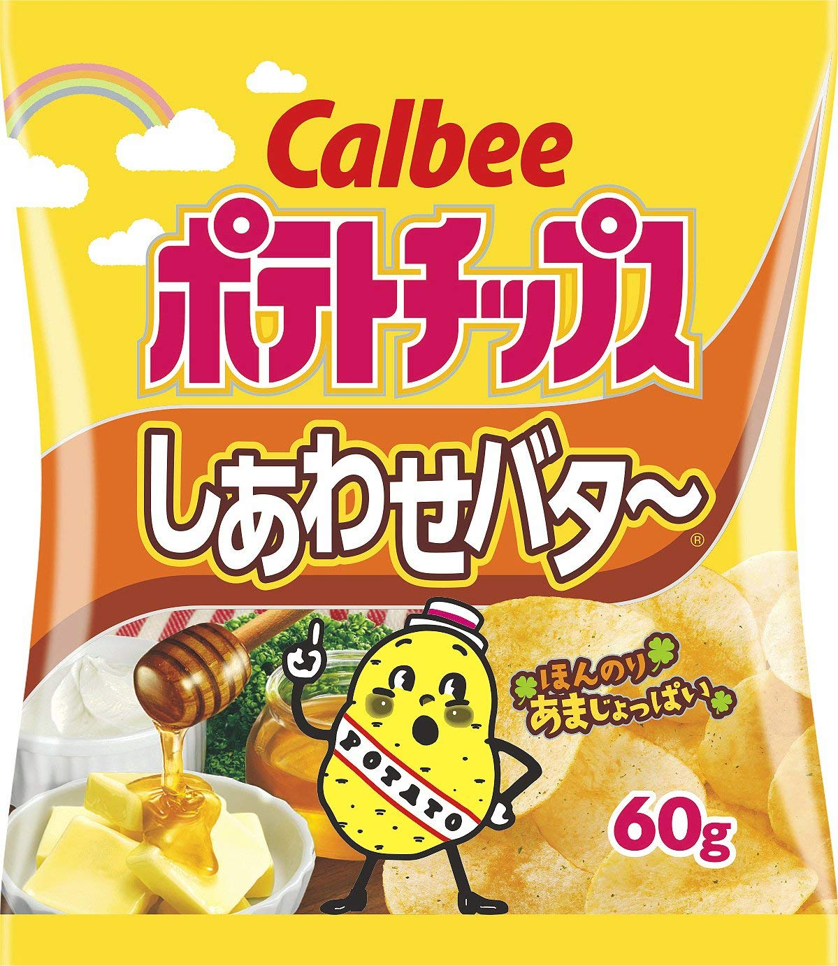 Calbee Honey & Butter Potato Crisps